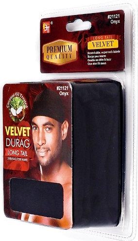 Black Velvet Du Rag ( Long Tail)