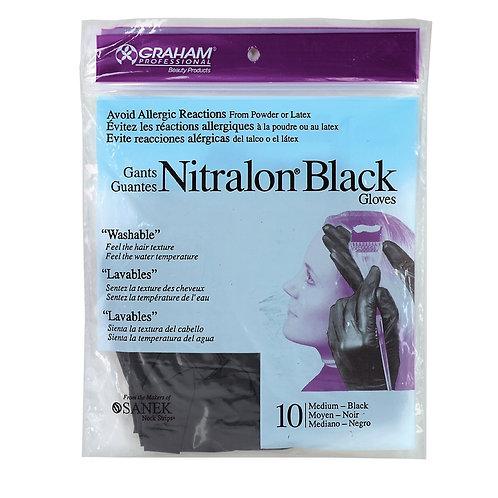 Nitralon Black Reusable Gloves (Medium)