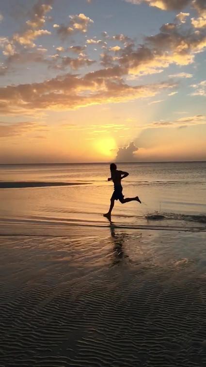 A Run on the Beach.