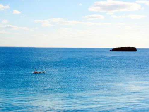 Kayaking from the Villa.