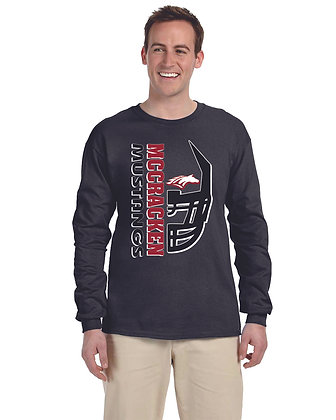 Mustang Football Long Sleeve T-shrt