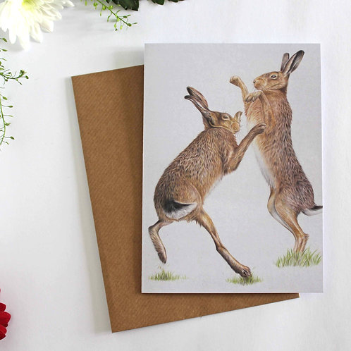 A Wild Bout Greeting Card