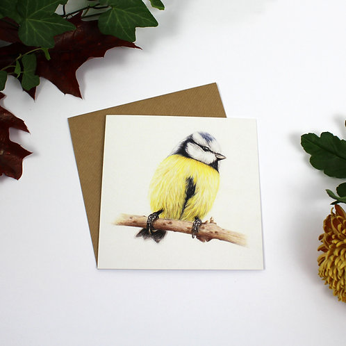 Bluetit Greeting Card