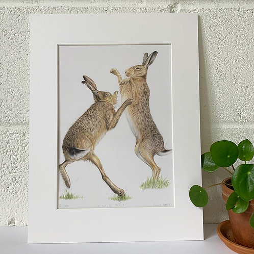 'A wild bout' Print