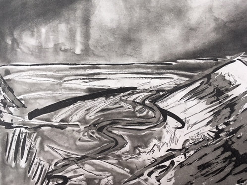 Cuckmere Haven Etching