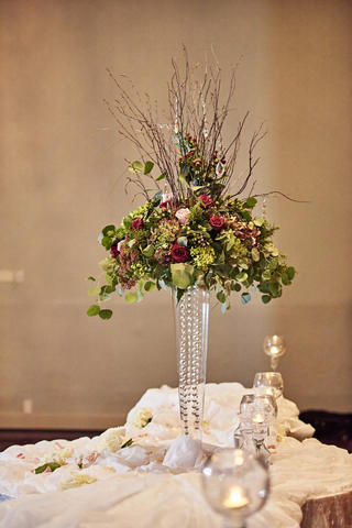 Wedding floral arrangement