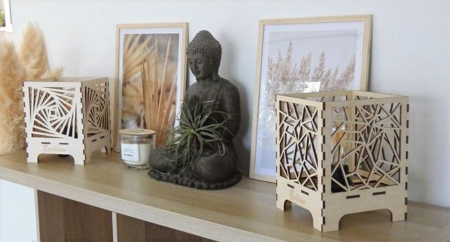 Luminaires/Lapes à poser en bois My-Wood