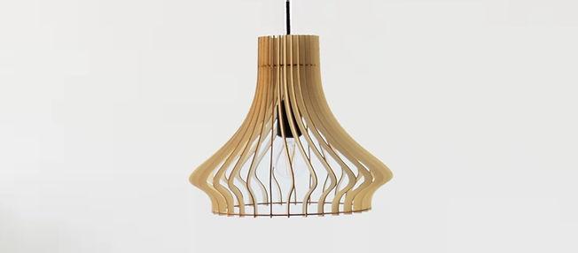 Luminaire/Suspension/Abat-jour/Lustre en bois My-Wood
