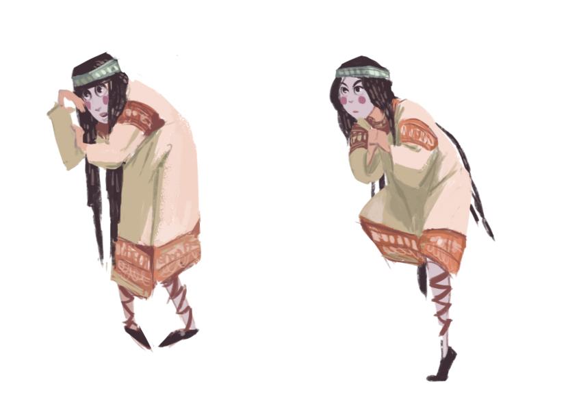 Pose, costume study