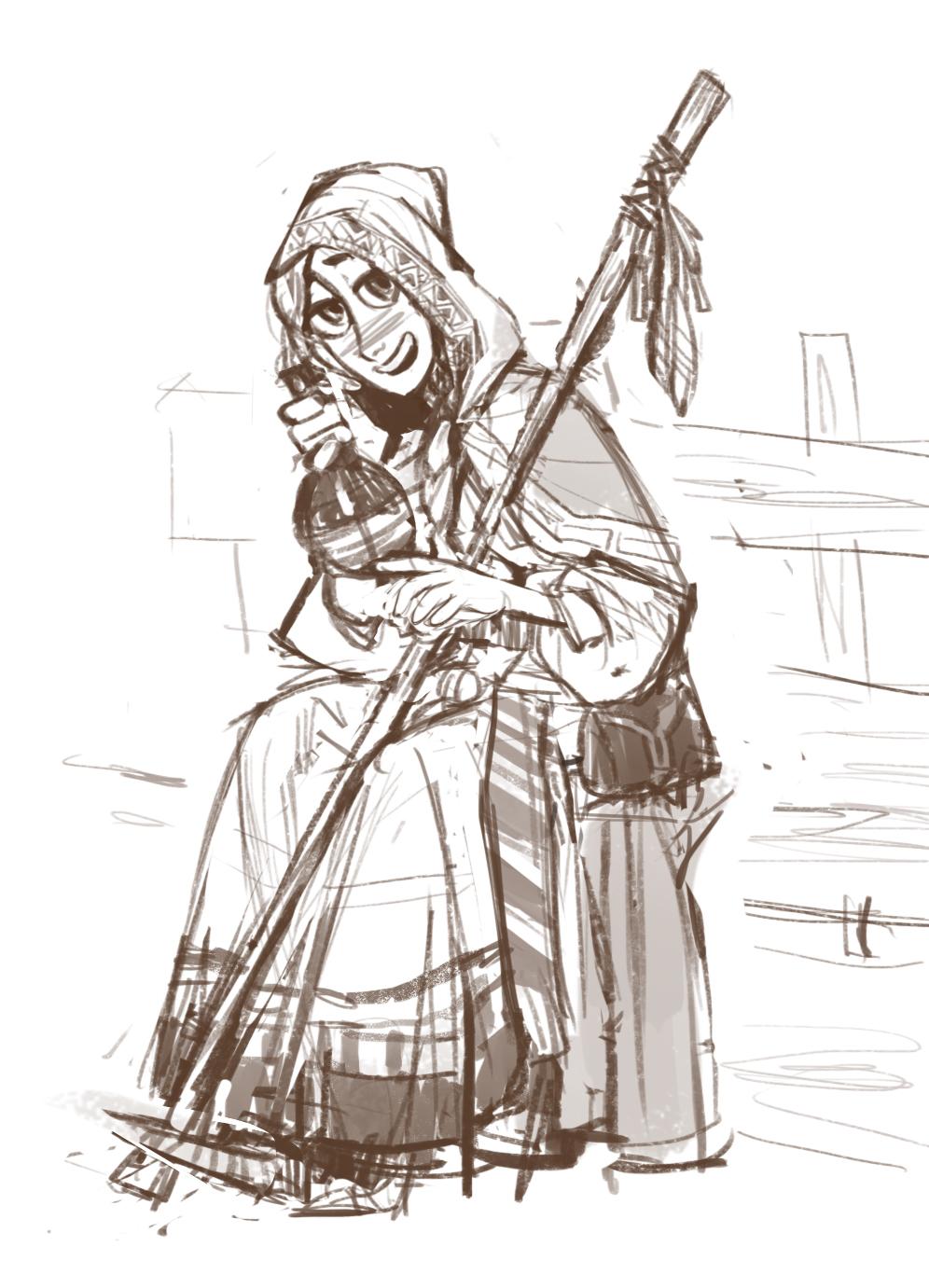 Drunk sorceress