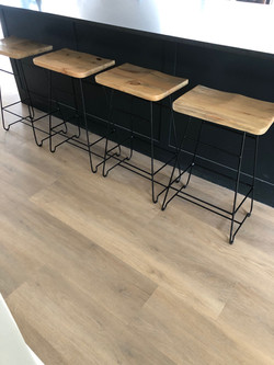 Steel bar stools 670mm high with wood