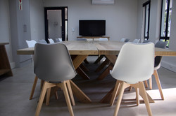 Boardroom desks and chairs