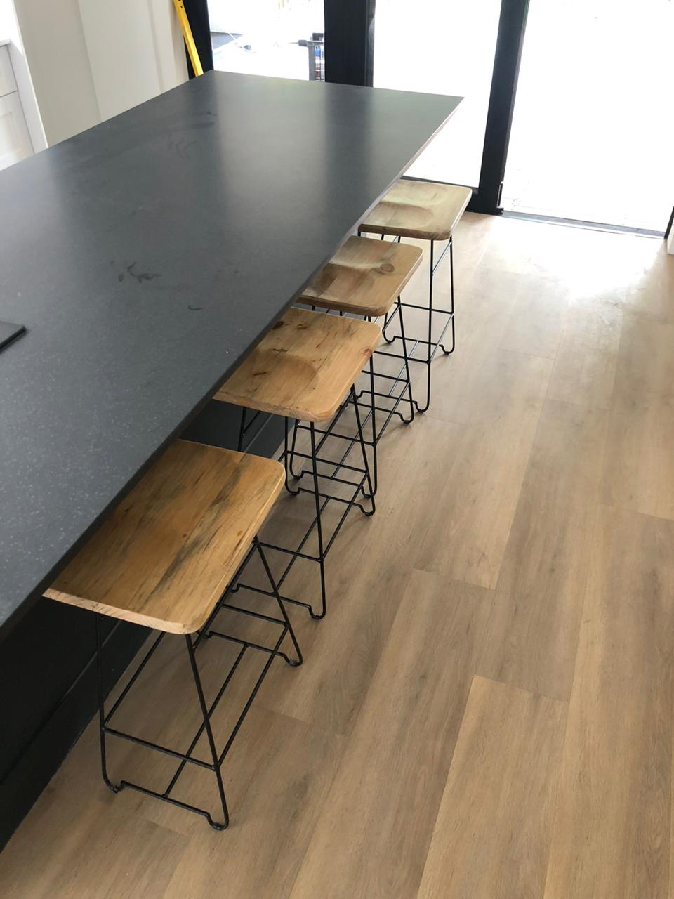 Steel and wood stools