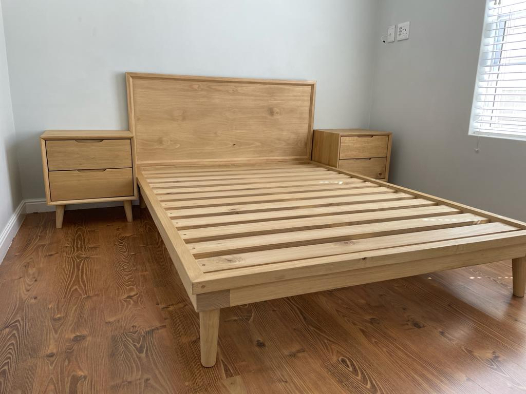 Double bed and matching bedside tables