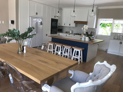 French oak table and stools