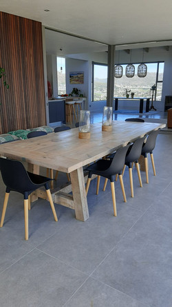 12 seater Industrial outdoor table