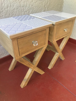 Ceramic tiles for bedside table