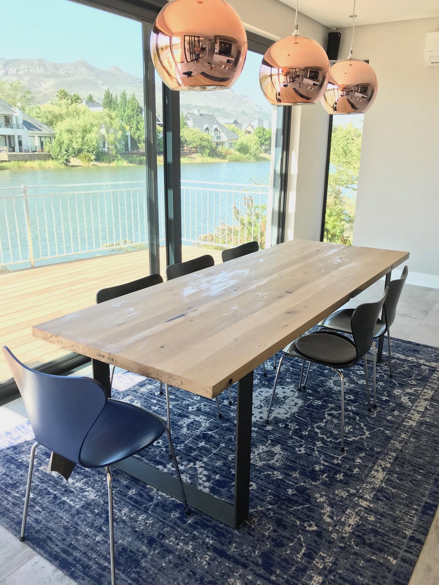 French KWV oak dining room