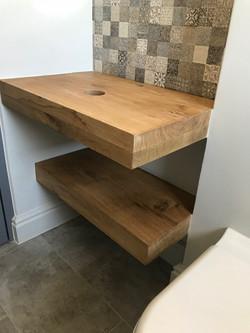 Oak shelves