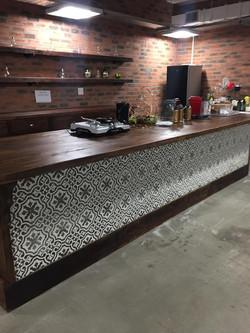 Mosaic bar front