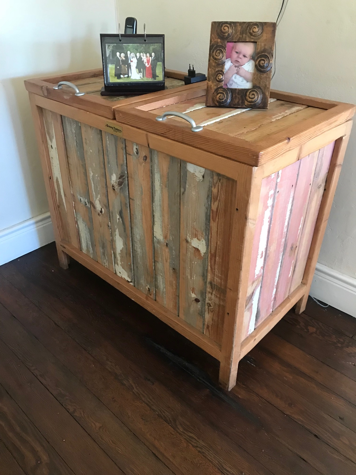 Rustic laundry basket