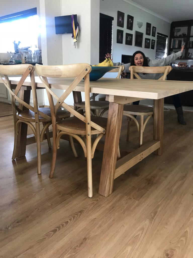 Oak table and country chairs