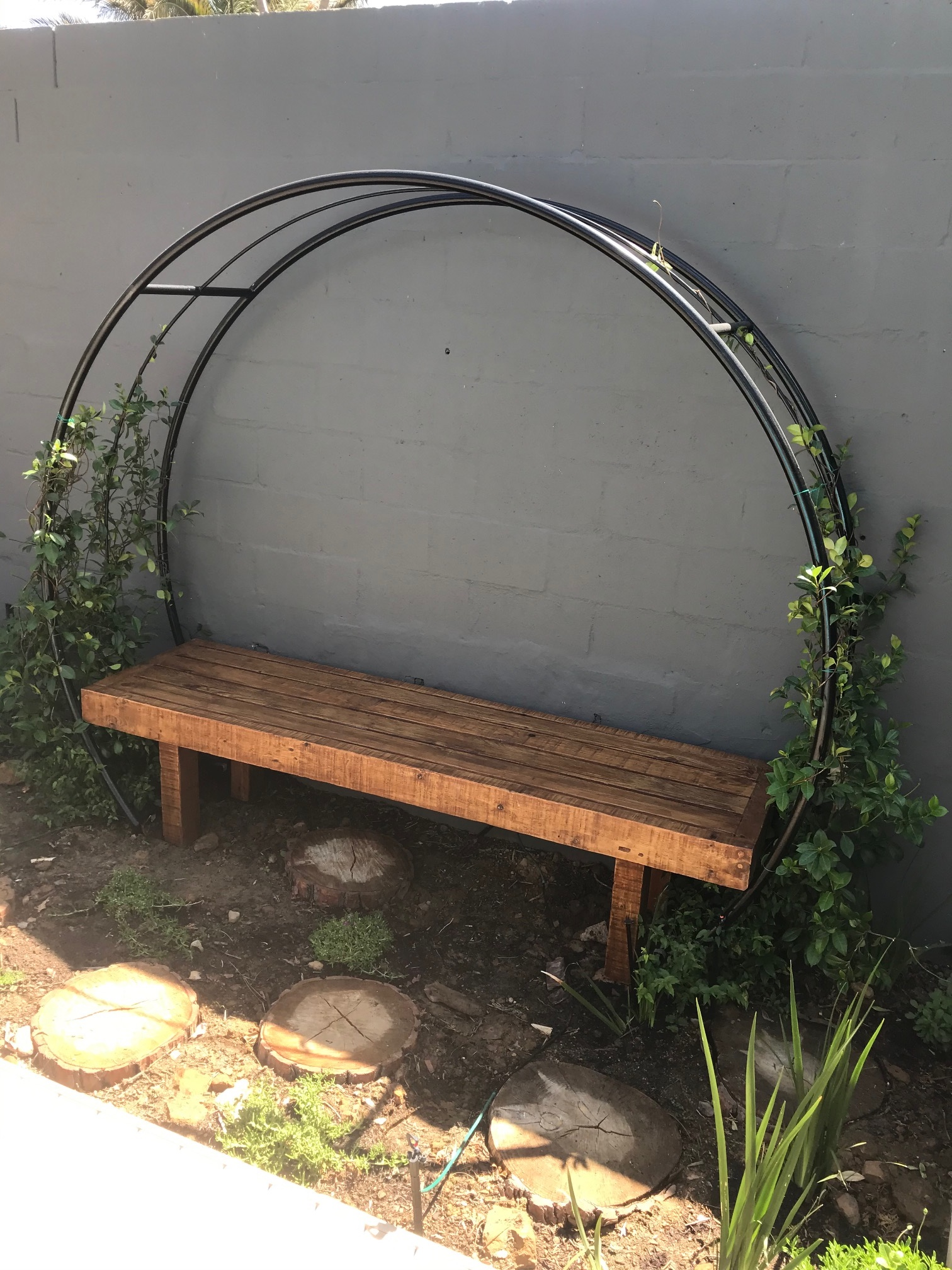 Love wall bench