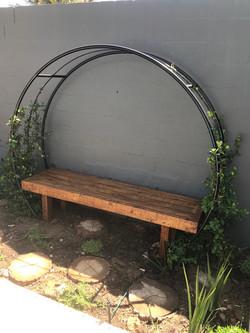 Love wall bench