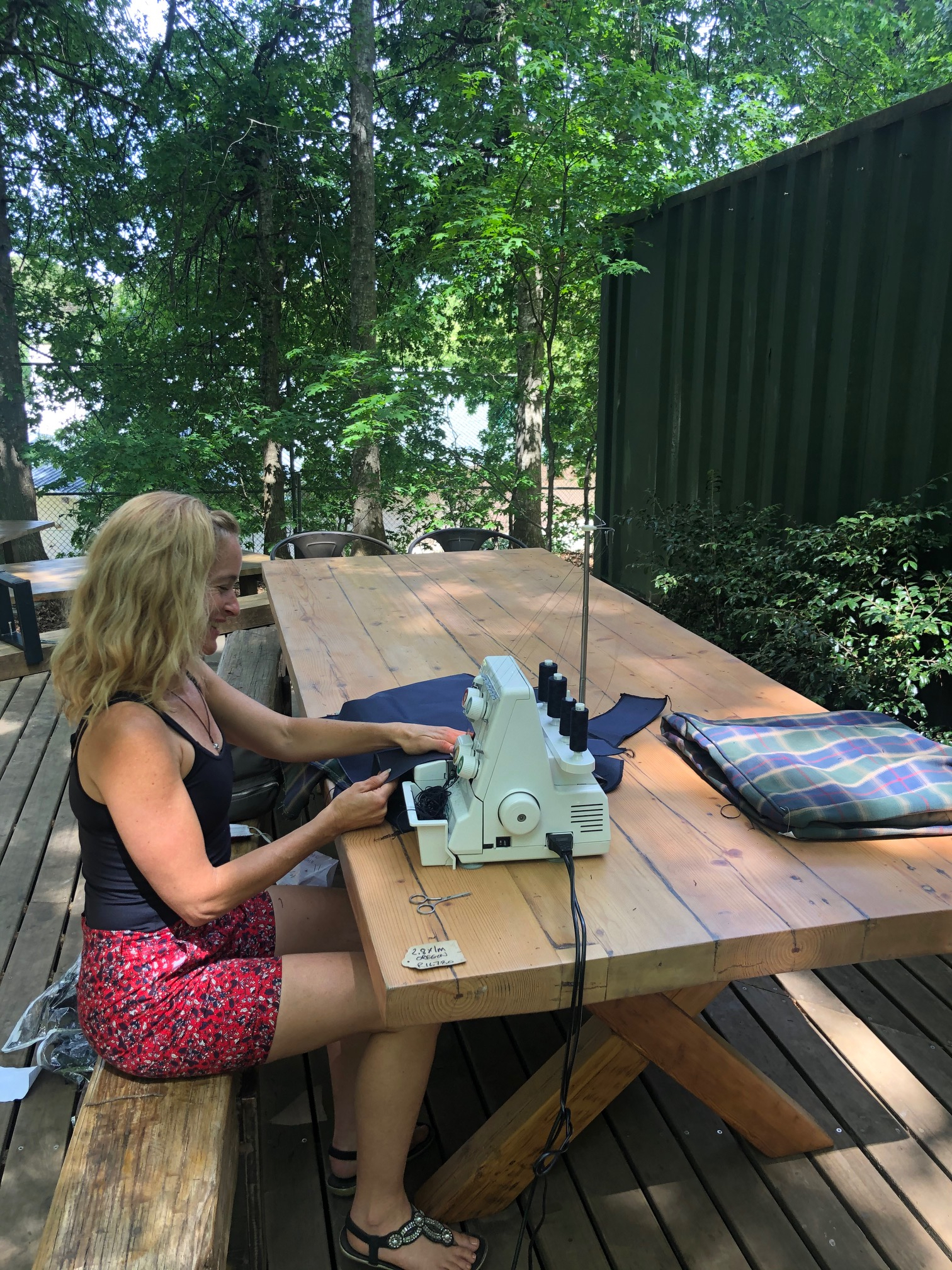 Office work in the forest