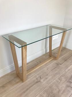 Custom oak desk