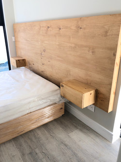 Headboard with side tables