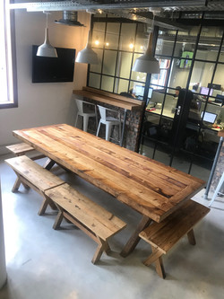 Kitchen table in recycled Oregon