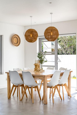 Square table and Leanne chairs