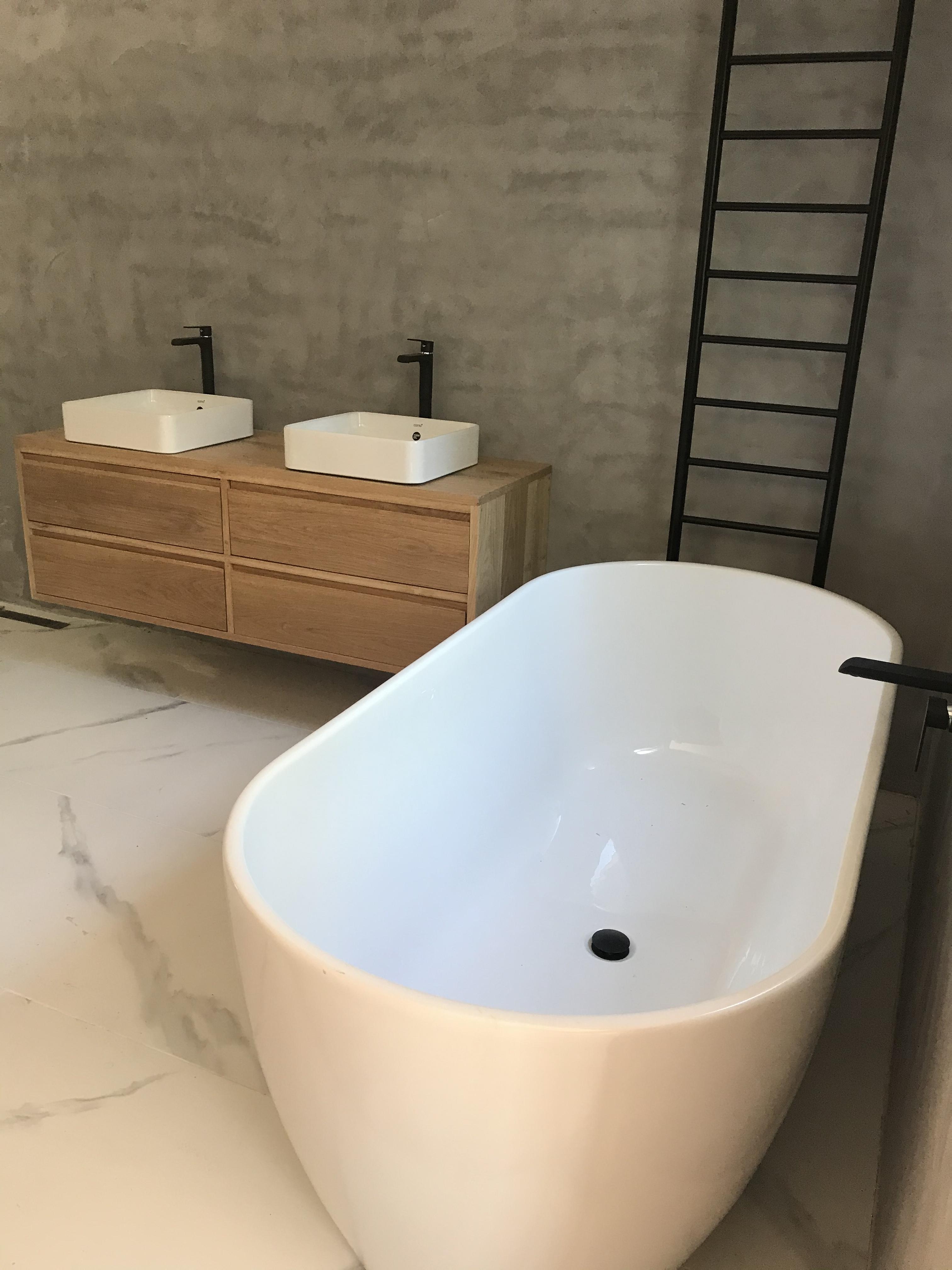 Oak vanity