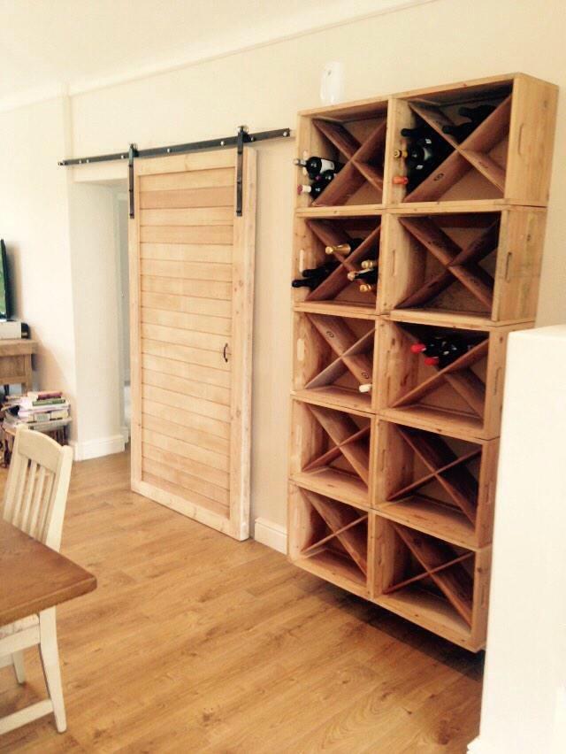 Crate + door wine cellar