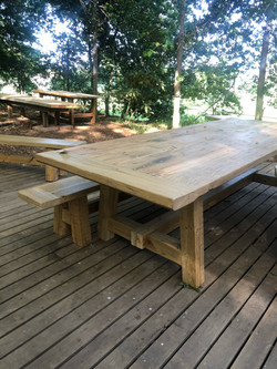 Outdoor table seats 8
