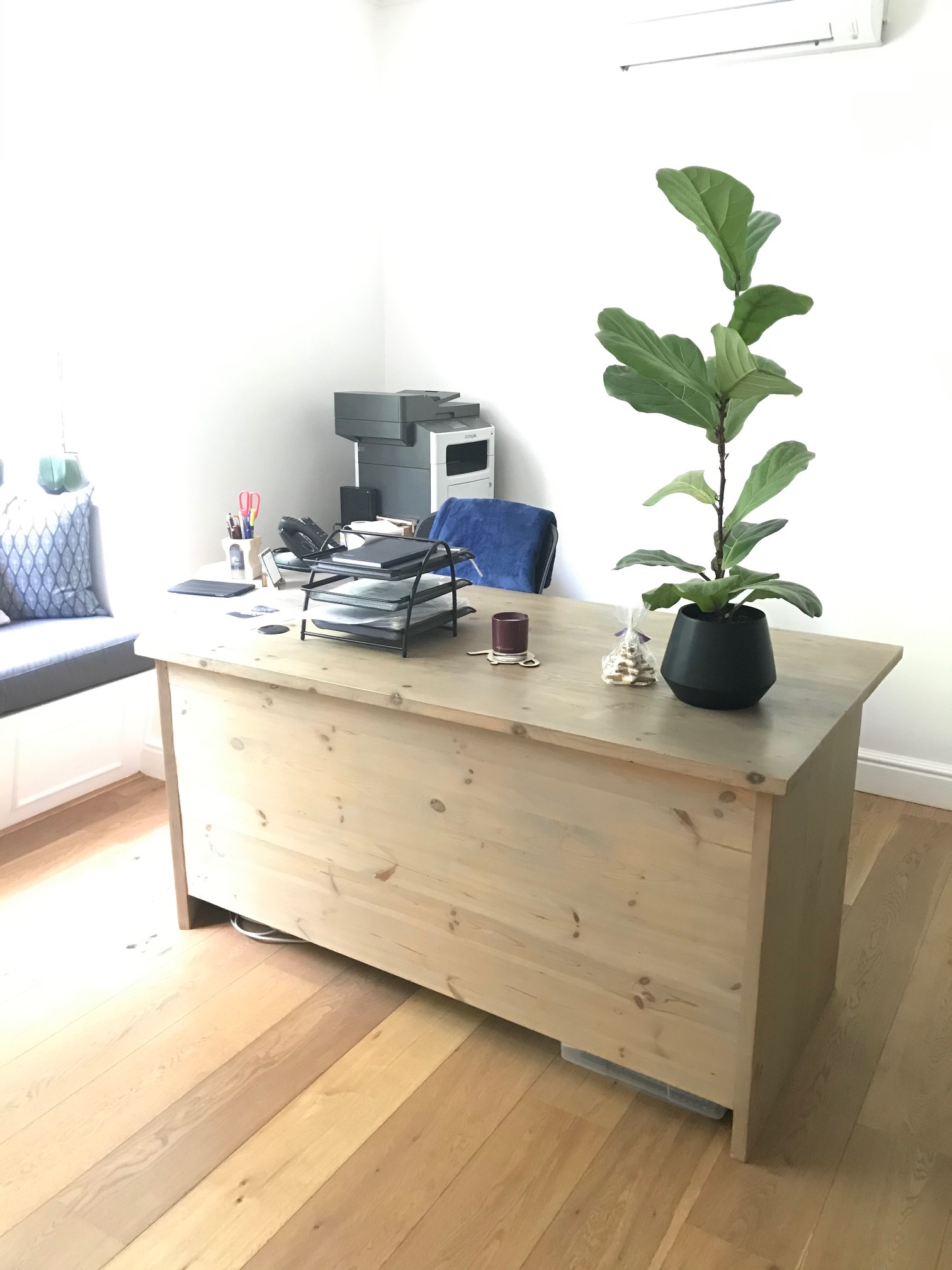 Custom L-shape desk