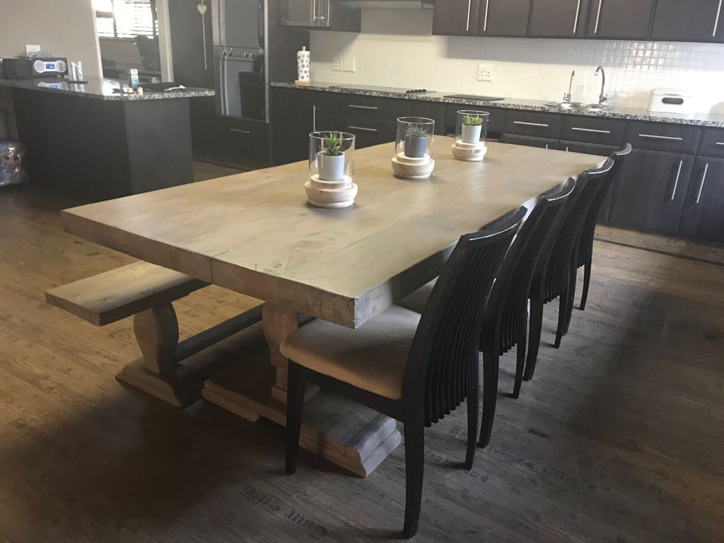Dining room table in Industrial Pine