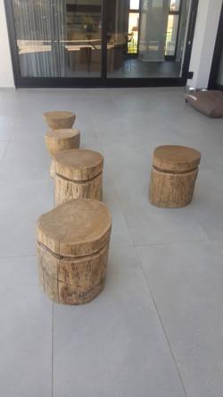 Sugar gum stools 450mm high