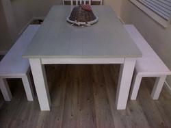 Seaweed outdoor table.