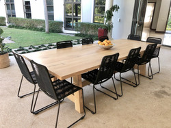 12 seater oak dining room table