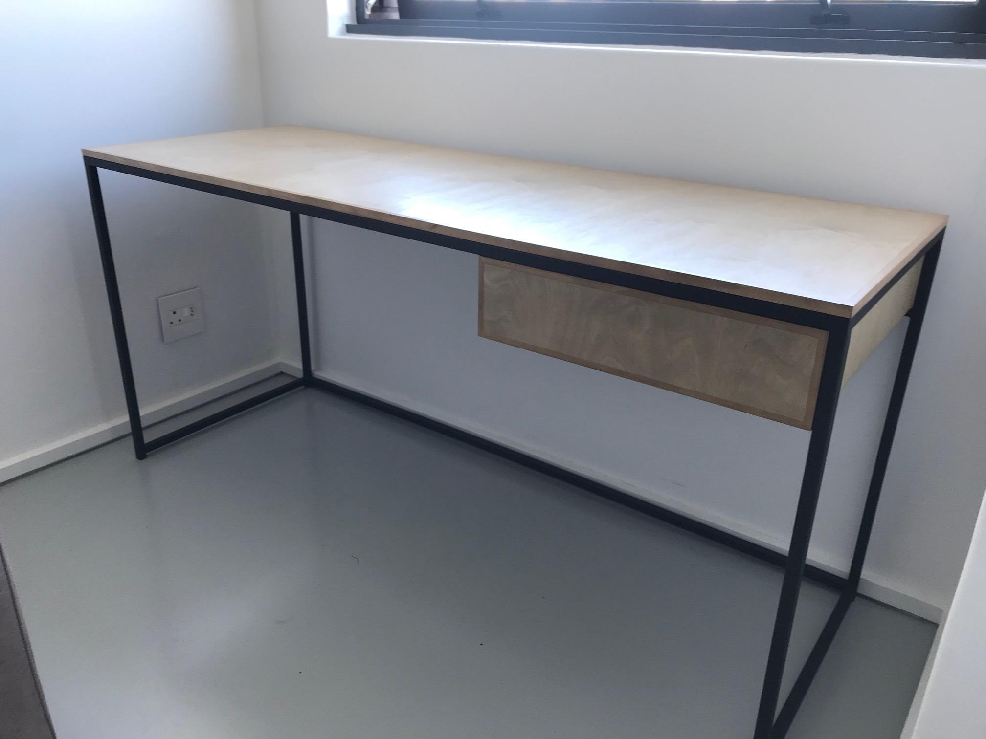 Office desk in steel