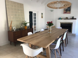 Tokia oak dining table