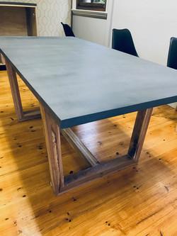 Cement top on oak legs 2mx 950mm.