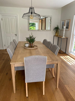 Ash dining room table