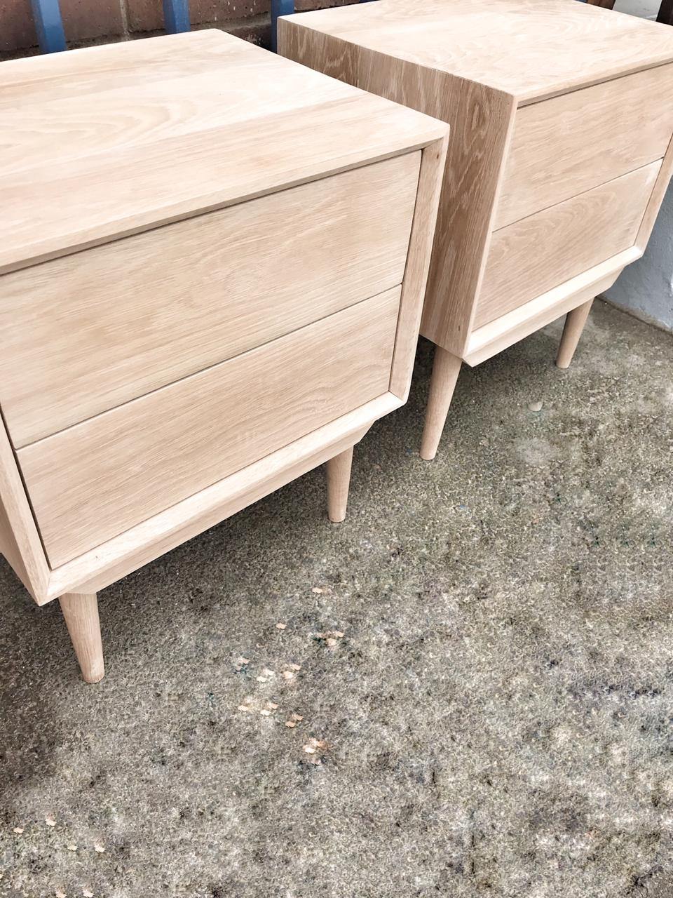 Oak bedside tables or pedestals