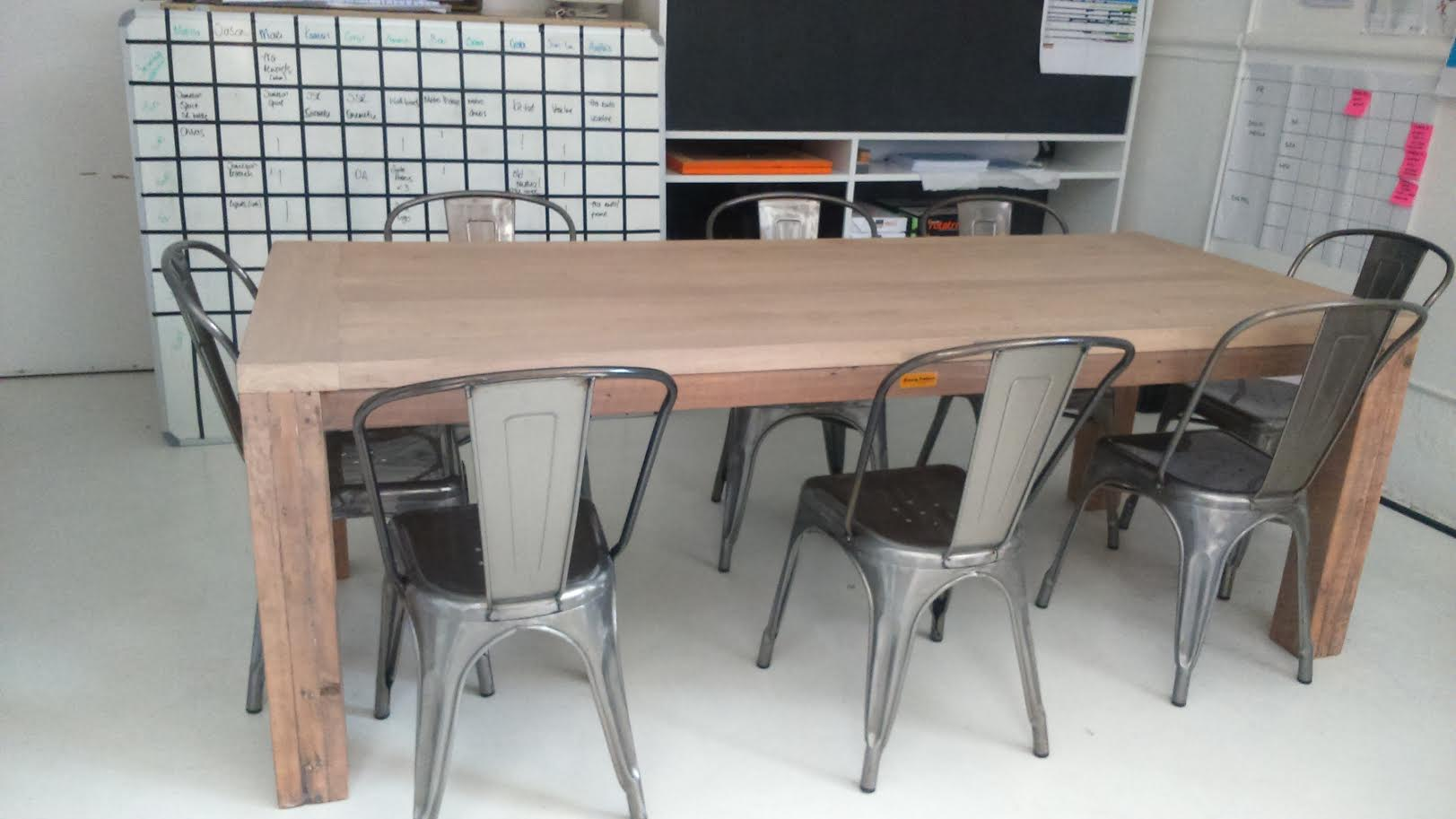 Recycled meeting room table.