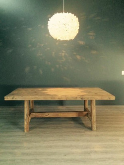 Venter A-frame dining room table.