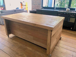 Recycled oregon kitchen island