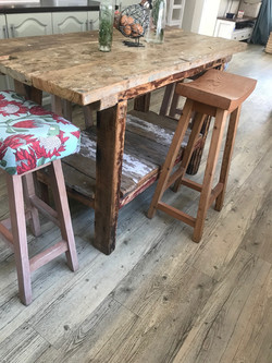 Our island stools in fabric
